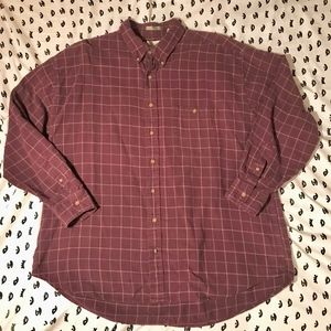 Bill Blass Plaid Flannel Button
